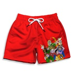 Short Praia Estampado Infantil Caverna do Dragão Use Nerd