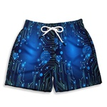 Short Praia Estampado Infantil Hardware Use Nerd