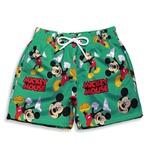 Short Praia Estampado Infantil Mickey Mouse Verde Use Nerd