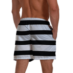 Short Praia Masculino Listrado Black White Use Thuco