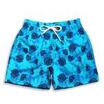 Short Praia Infantil Rosas Azul Use Thuco