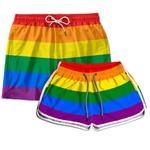 Kit Shorts Casal Masculino e Feminino Orgulho Use Thuco