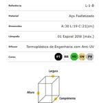 ARANDELA COLONIAL L-1-B ACO FOSFOTIZADO BRANCO-IDEAL