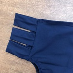 Calcinha De Biquíni Retrô 3 Tiras Azul Marinho