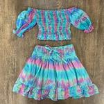 Saia Sofia e Cropped Bia Infantil Tie Dye Vibes