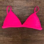 Top Biquíni Triângulo Trancinhas Plus Size Rosa Neon