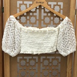 Cropped Bia Boho Plus Size Off White