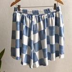 Shorts Nanda Plus Size Vichy Azul