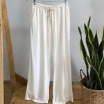 Calça Pantalona Mel Off White