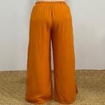 Calça Pantalona Eva Plus Size Laranja