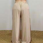 Calça Pantalona Eva Plus Size Off White