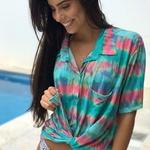 Camisa De Praia Tie Dye Vibes