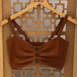 Cropped Lolla Caramelo