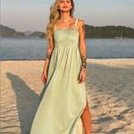 Vestido Longo Lastex Viena