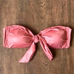Top Biquíni Cropped Drapeado Cirrê Rosê