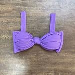 Top Biquíni Cropped Drapeado Lilás Texturizado