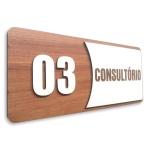 Placa De Sinalização | Consultórios - Nº03