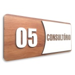Placa De Sinalização | Consultórios - Nº05