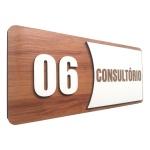 Placa De Sinalização | Consultórios - Nº06