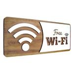 Placa De Sinalização | Wi-Fi - MDF 30x13cm