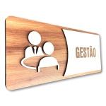Placa De Sinalização |Gestão - MDF 30x13cm