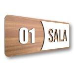 Placa De Sinalização | Salas - MDF 30x13cm