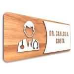 Placa De Sinalização | Dr. - MDF 30x13cm