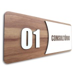 Placa De Sinalização | Consultórios - MDF 30x13cm