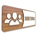 Placa De Sinalização |Diretoria - MDF 30x13cm