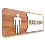 Placa De Sinalização |Masculino - MDF 30x13cm