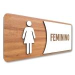 Placa De Sinalização |Feminino - MDF 30x13cm