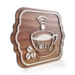 Placa De Sinalização | Café - MDF 30x24cm