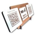 Placa De Sinalização | Uso de Wi-Fi - QR Code