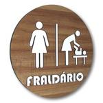 Placa De Sinalização | Fraldário - MDF 20x20cm
