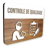 Placa De Sinalização | Controle de Qualidade - MDF 30x21cm