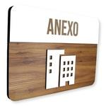 Placa De Sinalização | Anexo - MDF 30x21cm
