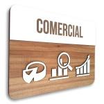 Placa De Sinalização | Comercial - MDF 30x21cm