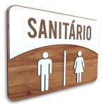 Placa De Sinalização | Sanitário - MDF 30x21cm