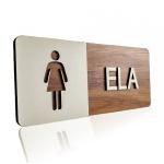 Placa De Sinalização | Ela - MDF 30x13cm