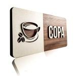 Placa De Sinalização | Copa - MDF 30x13cm