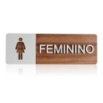 Placa De Sinalização | Feminino - MDF 30x13cm