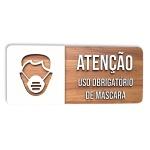 Placa De Sinalização | Uso de Máscara - MDF 30x13cm