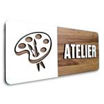 Placa De Sinalização | Atelier - MDF 30x13cm