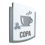 Placa De Sinalização   Copa - MDF 15x13cm