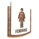 Placa De Sinalização | Feminio - MDF 15x13cm