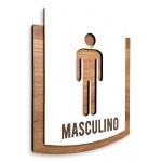 Placa De Sinalização | Masculino - MDF 15x13cm