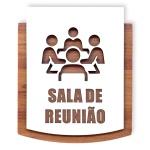 Placa De Sinalização | Reunião - MDF 15x13cm