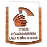 Placa De Sinalização | Limpeza das Mãos - MDF 15x13cm