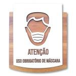 Placa De Sinalização | Uso de Máscara - MDF 15x13cm