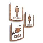 Kit Placa De Sinalização | Masculino - Feminino - Copa